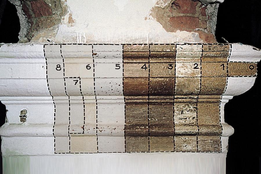 Analyses stratigraphiques des enduits et des maçonneries